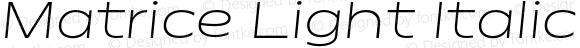 Matrice Light Italic