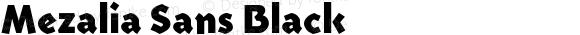 Mezalia Sans Black