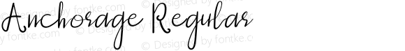 Anchorage Regular Version 1.004;Fontself Maker 3.0.2