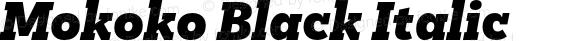 Mokoko Black Italic