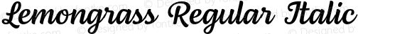 Lemongrass Regular Italic