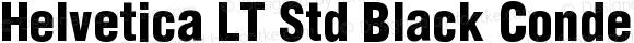 Helvetica LT Std Black Condensed
