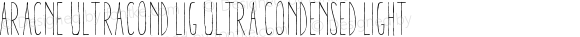 Aracne UltraCond Lig Ultra Condensed Light