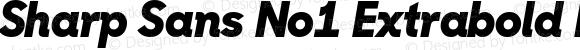 Sharp Sans No1 Extrabold Italic Regular