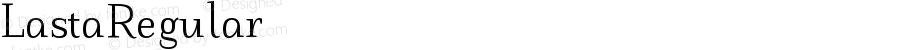 LastaRegular ☞ Version 1.000;com.myfonts.tdf.lasta.regular.wfkit2.41Yx