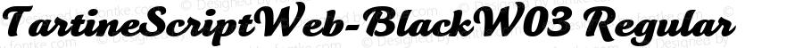 TartineScriptWeb-BlackW03 Regular Version 7.504