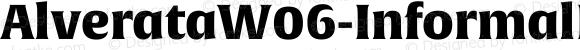 AlverataW06-InformalPEBlk Regular Version 1.1