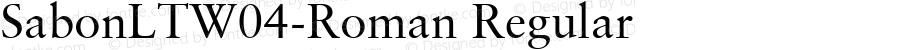 SabonLTW04-Roman Regular Version 2.10