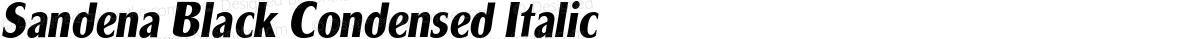 Sandena Black Condensed Italic