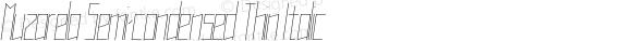 Muzarela Semi-condensed Thin Italic