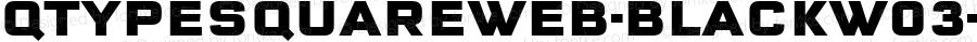 QTypeSquareWeb-BlackW03-Rg Regular Version 7.504