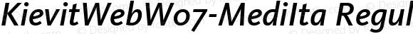 KievitWebW07-MediIta Regular Version 7.504