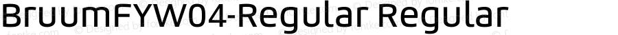 BruumFYW04-Regular Regular Version 1.1