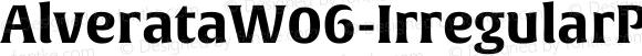 AlverataW06-IrregularPEBd Regular Version 1.1