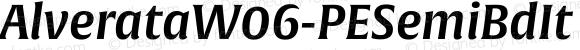 AlverataW06-PESemiBdIt Regular Version 1.1