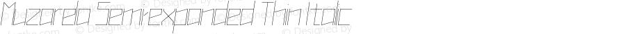 Muzarela-SemiexpandedThinItalic