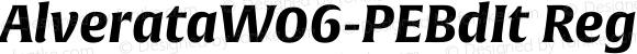AlverataW06-PEBdIt Regular Version 1.1