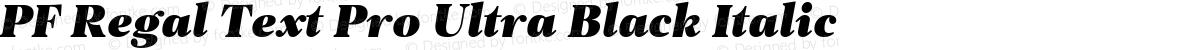 PF Regal Text Pro Ultra Black Italic