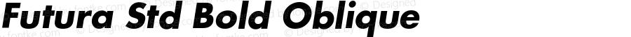 Futura Std Bold Oblique Version 2.025;PS 002.000;hotconv 1.0.50;makeotf.lib2.0.16970