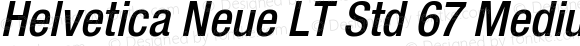 Helvetica Neue LT Std 67 Medium Condensed Oblique