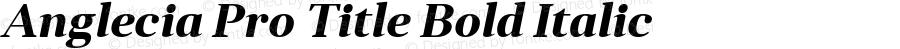 Anglecia Pro Title Bold Italic Version 001.000