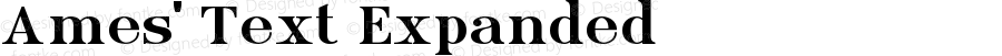 Ames' Text Expanded Version 1.000;PS 001.000;hotconv 1.0.70;makeotf.lib2.5.58329