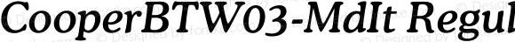 CooperBTW03-MdIt Regular Version 1.00