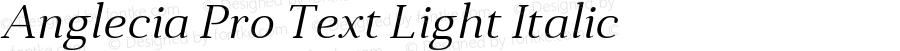 Anglecia Pro Text Light Italic Version 001.000