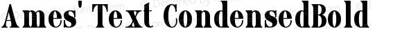 Ames' Text CondensedBold Version 1.000;PS 001.000;hotconv 1.0.70;makeotf.lib2.5.58329