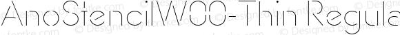 AnoStencilW00-Thin Regular Version 1.00