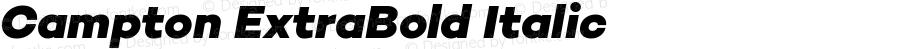 Campton ExtraBold Italic
