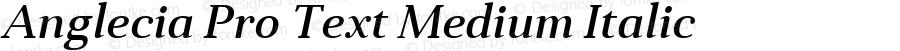 Anglecia Pro Text Medium Italic Version 001.000