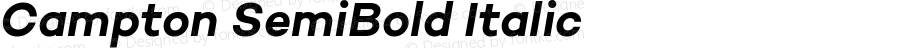 Campton SemiBold Italic
