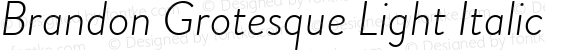 BrandonGrotesque-LightItalic