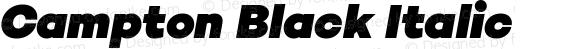 Campton Black Italic