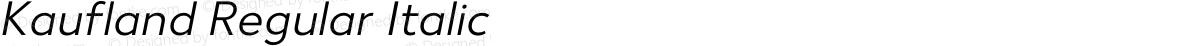 Kaufland Regular Italic