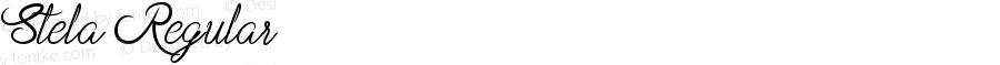 Stela Regular Version 1.00;December 5, 2018;FontCreator 11.5.0.2427 32-bit