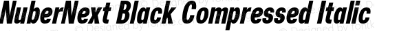 NuberNext Black Compressed Italic