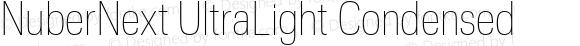 NuberNext UltraLight Condensed