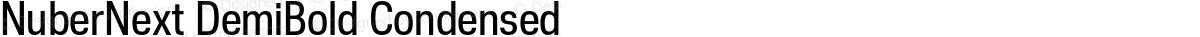 NuberNext DemiBold Condensed