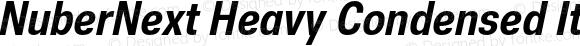 NuberNext Heavy Condensed Italic