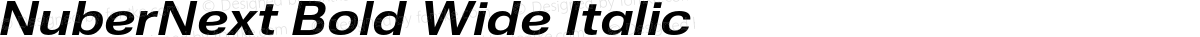 NuberNext Bold Wide Italic