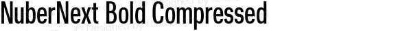 NuberNext Bold Compressed