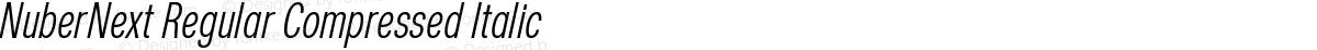 NuberNext Regular Compressed Italic
