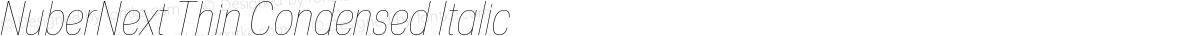 NuberNext Thin Condensed Italic