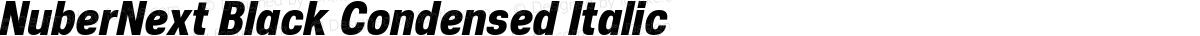 NuberNext Black Condensed Italic