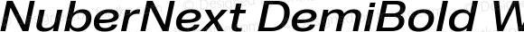 NuberNext DemiBold Wide Italic