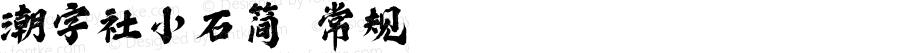 潮字社小石简 常规 Version 1.0  www.reeji.com QQ:2770851733 Mail:Reejifont@outlook.com REEJI锐字家族 上海锐线创意设计有限公司