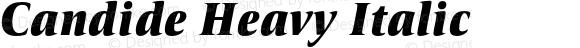 Candide Heavy Italic