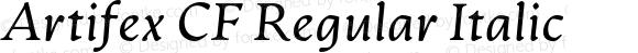 Artifex CF Regular Italic